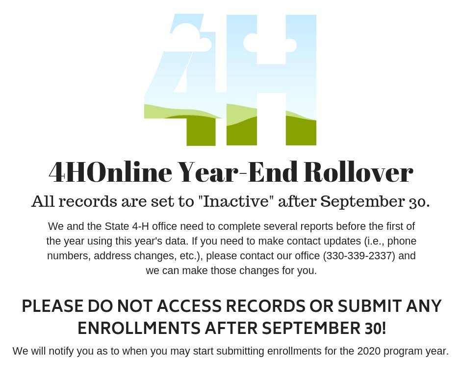 4HOnline Year-End Rollover