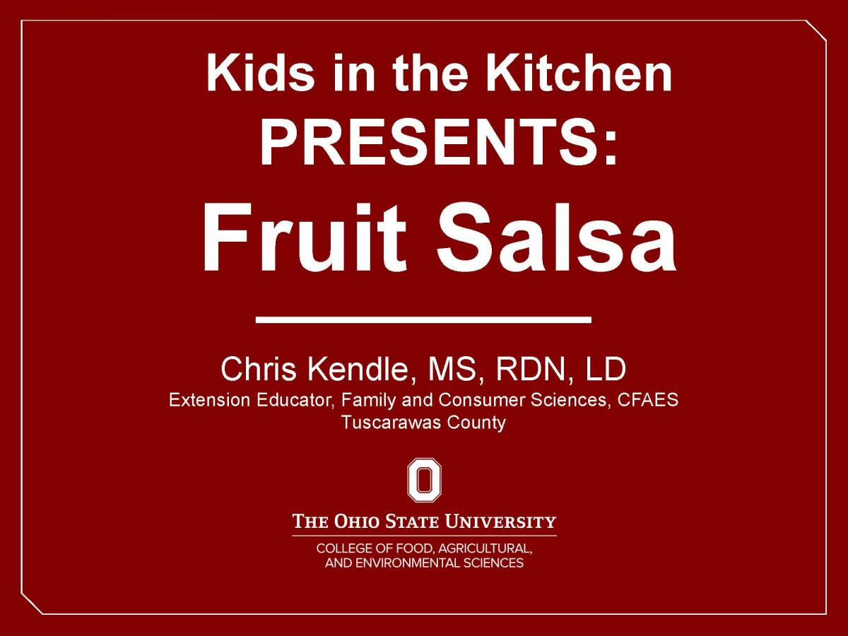 Fruit Salsa Video