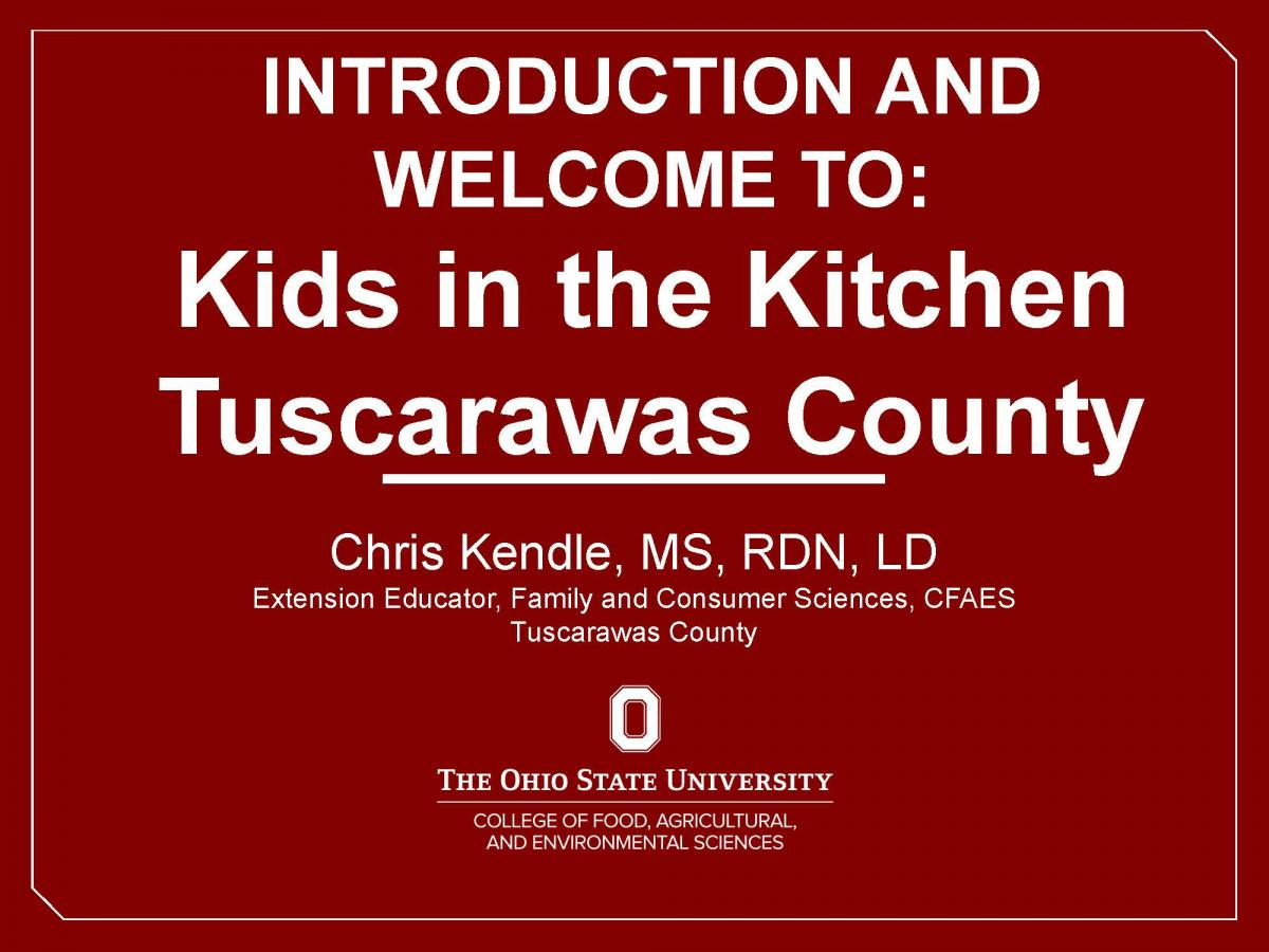 Introduction Video to Kids in the Kitchen