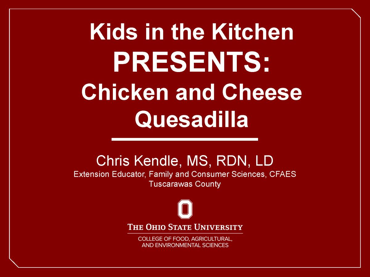 Chicken Quesadilla Video