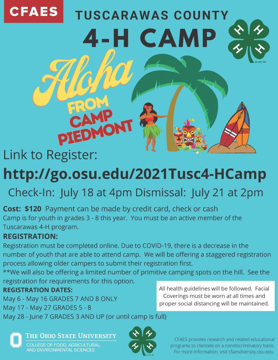 4-H Camp Registration
